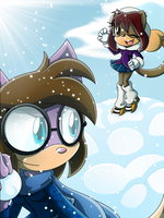 .:Gift: Snowball fight:. by XxRubytheRabbitxX