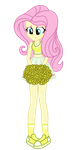 Cheerleader Fluttershy Another Colour by MixiePie by MixiePie