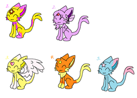 FREE Adoptable Espeons :CLOSED: by Paige-the-unicorn