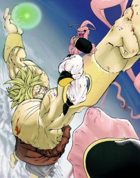 DragonBall Z Brolly VS Buu by knightsfaith