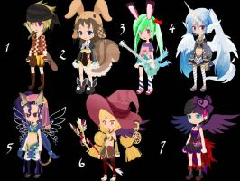 Random Girls Trade to Adopt CLOSED by AdoptableSoulxHeart