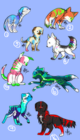 Puppy Adoptables I by CanineAdoptions