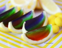 Lemon Rainbow Jello by theresahelmer