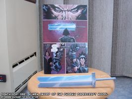Papercraft X-Men 479 Sword of the Phoenix by ninjatoespapercraft