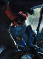 Dante and Vergil by candycanecroft