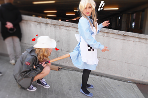 Fem!UsUk Cosplay #3 - Curious America... by YamiMana