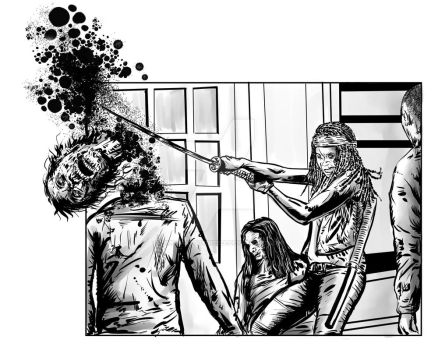 Michonne - Comic Panel by SimonArtGuyBreeze