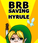 BRB Saving Hyrule by Po-Zu