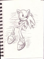 Sonic.....suppose to run backwards XP by MistrissTheHedgehog