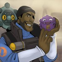 Demoman with Buben and Fublin by 2078