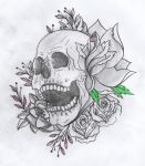Skull Tattoo Drawing by utilizzo