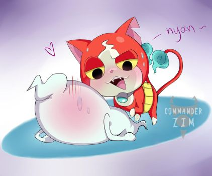 Whipser X Jibanyan- Hot by Zim-BringerOfDoom
