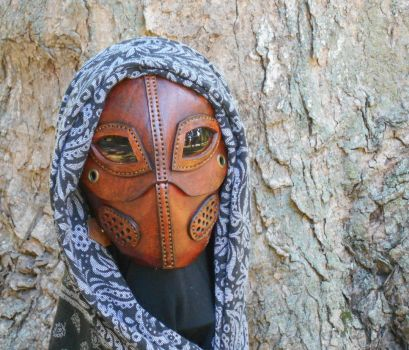 Leather mask with a soul by LAFuellingFacades