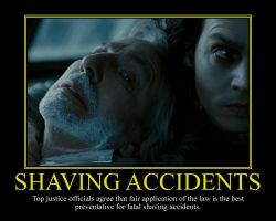 Shaving Accidents Motivational Poster by DaVinci41