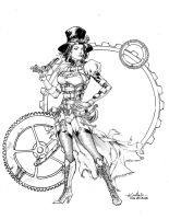 Lady Mechanika - Drink'n'Draw Aug7th2013 by SpiderGuile