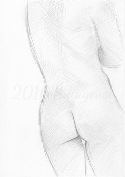 nude drawing class. pose 04 by Sillageuse