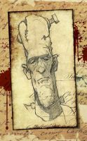 Frankenstein's Monster Sketch by blackmoose