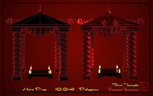 Fire Temple - Pagoda by DeaconStone