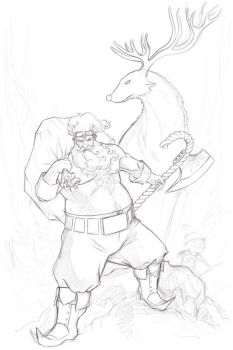 Santa getting ready for colouring by JHUBS