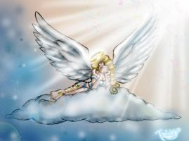 Angel Babe - colored by TwickyGirl