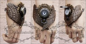 MALEFICENT winged watch cuff by Pinkabsinthe