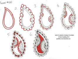 How to draw Paisley Flower 25 by Quaddles-Roost