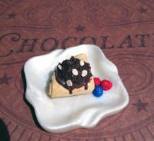 Miniature crepe with chocolate ice cream by KrystalsTinyCakery