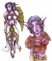 Night Elves by kafeicl