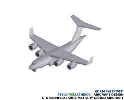 Militry Cargo Aircraft: Pixel by StylePixelStudios