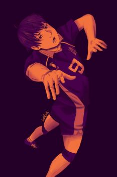 Kageyama Tobio (color palette 9) by mcdh0908