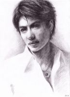 Gackt portrait - white shirt by hellbull