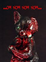 Zombie Black Cat OM NOM NOM by Undead-Art