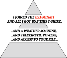 illuminati - shirt no. 1 by manrunningstudio