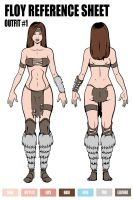 COMMISSION: REFERENCE SHEET OUTFIT #1 FLOY by taghuso