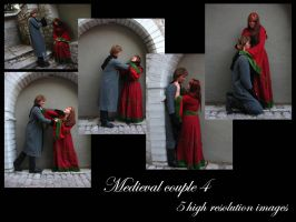 Medieval couple 4 stock pack by Mithgariel-stock