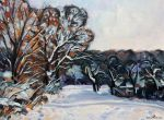 Winter Trees hit by Golden Sunlight by Art-deWhill