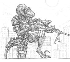 Raptor Sniper promo pencils by ECTmonster