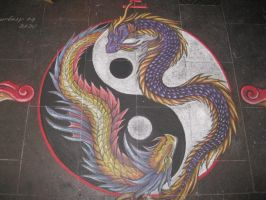 chalk art collaberation by naturehound