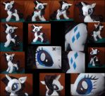 Durable Rarity plushie with movable head and ears by Oblitor