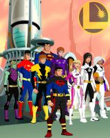 Legion Of Superheroes Yj style by Najarin