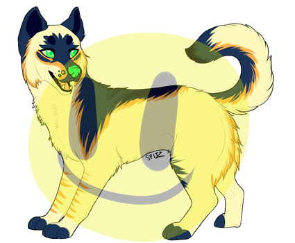 Canine adoptable - blue and yellow [CLOSED] by Temerariie