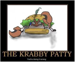 Demotivational: Krabby Patty by sevakordran