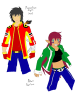 Max and Akari LineArt Colored by Finny-KunGoddess