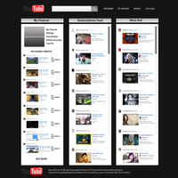 Youtube Homepage Layout Concept by 06durkins