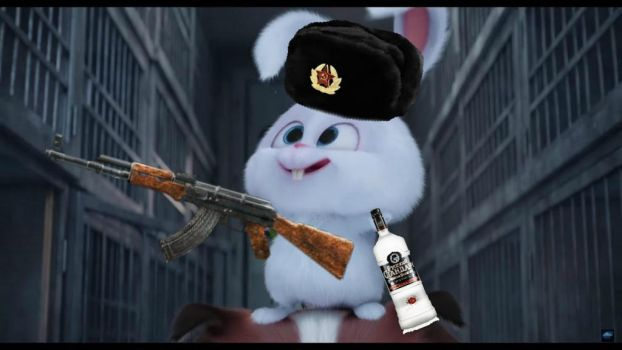 Snowball with AK47 and Vodka by XxSpringtrap-PVPxX