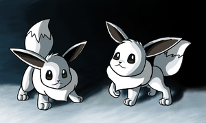 Shiny Eevees by Bman-64