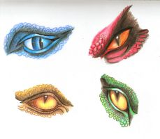 Dragon eyes better quality by T-Arya