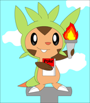The Statue of Chespin by Jeffery-Cat