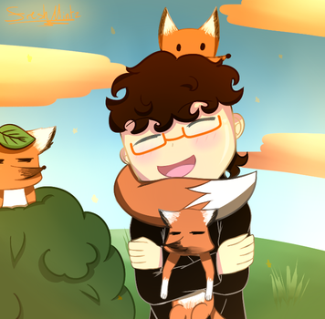 Mini Ladd and foxes by FreshMintz82