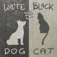 White Dog - Black Cat Animated Gif by nottisweettoothi